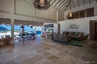 cool living room of Saint Barth Villa Yellow Bird luxury holiday home, vacation rental