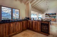 modern kitchen appliances in Saint Barth Villa Yellow Bird luxury holiday home, vacation rental