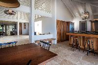cool dining area in Saint Barth Villa Yellow Bird luxury holiday home, vacation rental
