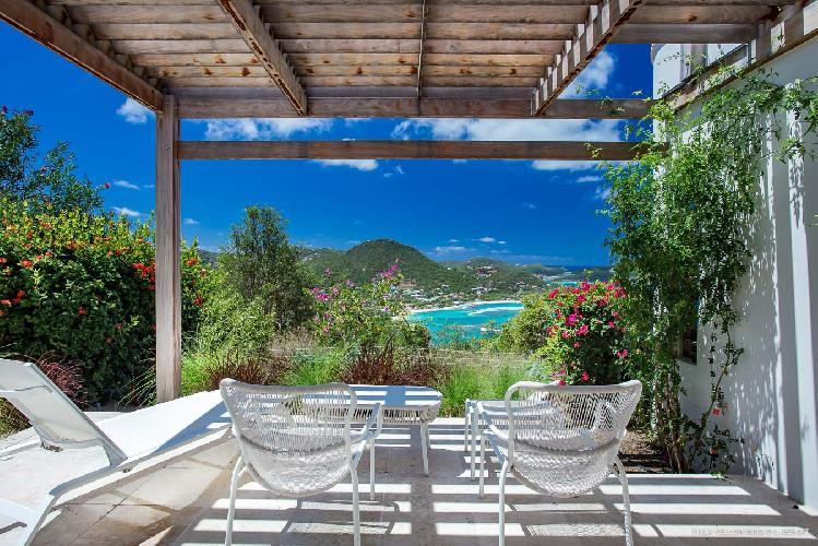 magnificent sea view from Saint Barth Villa Yellow Bird luxury holiday home, vacation rental