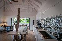 cool ceiling of Saint Barth Villa Kaloo luxury holiday home, vacation rental