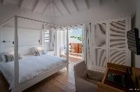 fresh bed sheets in Saint Barth Villa Kaloo luxury holiday home, vacation rental