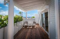 cool balcony of Saint Barth Villa Kaloo luxury holiday home, vacation rental