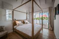 clean bedroom linens in Saint Barth Villa Kaloo luxury holiday home, vacation rental