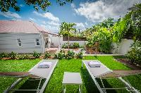 pretty garden of Saint Barth Villa Kaloo luxury holiday home, vacation rental