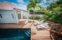 cool sun loungers at Saint Barth Villa Kaloo luxury holiday home, vacation rental