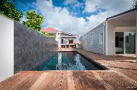 cool poolside of Saint Barth Villa Kaloo luxury holiday home, vacation rental