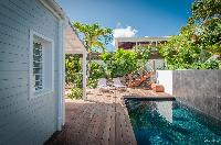 fun swimming pool of Saint Barth Villa Kaloo luxury holiday home, vacation rental