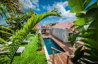 lush garden of Saint Barth Villa Kaloo luxury holiday home, vacation rental