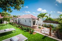 lovely garden of Saint Barth Villa Kaloo luxury holiday home, vacation rental