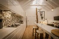 cool kitchen of Saint Barth Villa Kaloo luxury holiday home, vacation rental