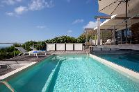 cool swimming pool of Saint Barth Villa La Magnifica luxury holiday home, vacation rental