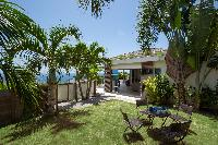 cool garden of Saint Barth Villa La Magnifica luxury holiday home, vacation rental