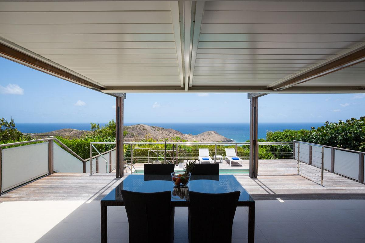 beautiful sea view from Saint Barth Villa La Magnifica luxury holiday home, vacation rental