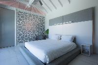 clean bedroom linens in Saint Barth Villa Rose Dog luxury holiday home, vacation rental
