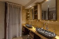 clean bathroom in Saint Barth Villa Castle Rock luxury holiday home, vacation rental