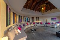 fabulous living room of Saint Barth Villa Castle Rock luxury holiday home, vacation rental
