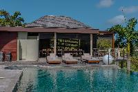 cool swimming pool of Saint Barth Villa Castle Rock luxury holiday home, vacation rental