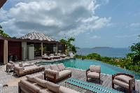 beautiful sea view from Saint Barth Villa Castle Rock luxury holiday home, vacation rental