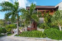 cool garden of Saint Barth Villa Castle Rock luxury holiday home, vacation rental