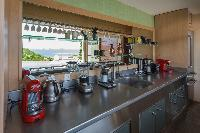 modern kitchen appliances in Saint Barth Villa Castle Rock luxury holiday home, vacation rental