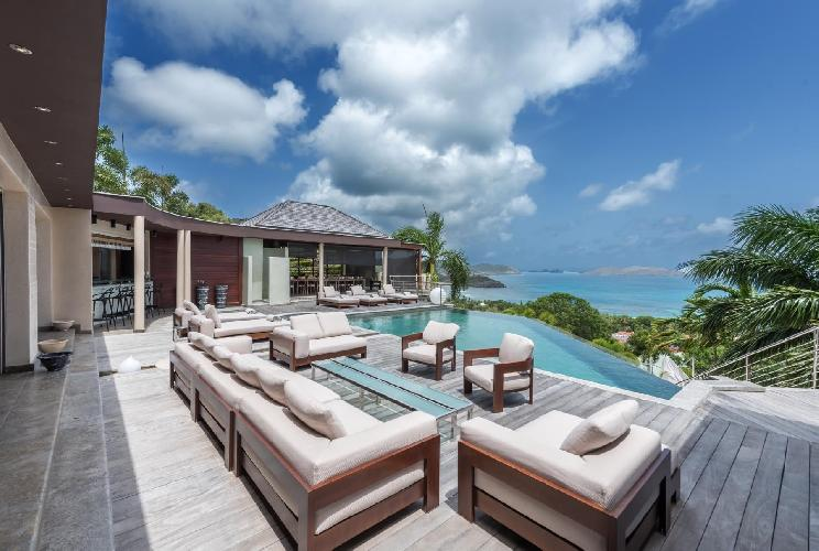 beautiful Saint Barth Villa Castle Rock luxury holiday home, vacation rental