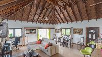 pleasant living room of Saint Barth Luxury Villa Estrela holiday home, vacation rental