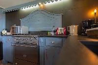 swanky kitchen of Saint Barth Villa Lama luxury holiday home, vacation rental