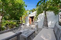 cool patio of Saint Barth Villa Lama luxury holiday home, vacation rental