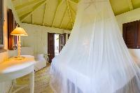 clean bedroom linens in Saint Barth Villa Lama luxury holiday home, vacation rental