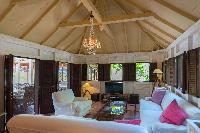 incredible ceiling of Saint Barth Villa Lama luxury holiday home, vacation rental