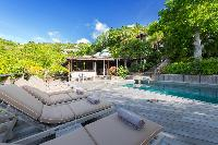 cool swimming pool of Saint Barth Villa Lama luxury holiday home, vacation rental