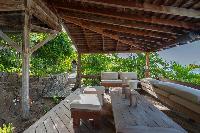 cool balcony of Saint Barth Villa Lama luxury holiday home, vacation rental