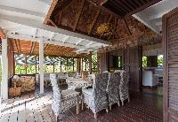 cool dining room of Saint Barth Villa Lama luxury holiday home, vacation rental