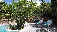 cool poolside of Saint Barth Villa Les Cazes luxury holiday home, vacation rental