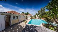 cool swimming pool of Saint Barth Villa Les Cazes luxury holiday home, vacation rental
