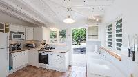 cool kitchen of Saint Barth Villa Les Cazes luxury holiday home, vacation rental
