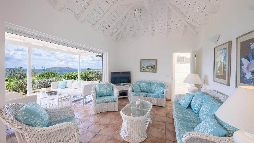 awesome seafront Saint Barth Villa Les Cazes luxury holiday home, vacation rental