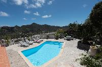 neat poolside of Saint Barth Villa Tourterelle luxury holiday home, vacation rental