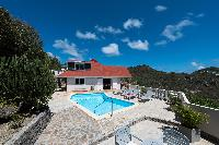 nice poolside of Saint Barth Villa Tourterelle luxury holiday home, vacation rental