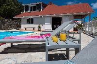 cool sun loungers at Saint Barth Villa Tourterelle luxury holiday home, vacation rental