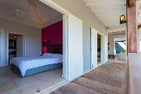 fresh bedroom linens in Saint Barth Villa Lagon Jaune Estate luxury holiday home, vacation rental