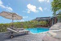 cool sun loungers at Saint Barth Villa Lagon Jaune Estate luxury holiday home, vacation rental