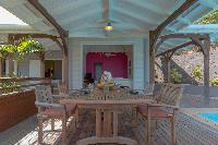 cool dining area in Saint Barth Villa Lagon Jaune Estate luxury holiday home, vacation rental