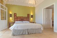 lovely bedroom of Saint Barth Villa Lagon Jaune Estate luxury holiday home, vacation rental