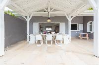 amazing lanai of Saint Barth Villa Lagon Jaune Estate luxury holiday home, vacation rental