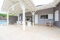 awesome lanai of Saint Barth Villa Lagon Jaune Estate luxury holiday home, vacation rental