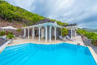 cool swimming pool of Saint Barth Villa Lagon Jaune Estate luxury holiday home, vacation rental