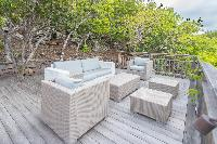 pretty balcony of Saint Barth Villa Lagon Jaune Estate luxury holiday home, vacation rental