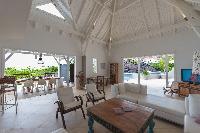 incredible ceiling of Saint Barth Villa Lagon Jaune Estate luxury holiday home, vacation rental
